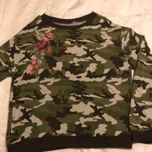 Tops - Camouflage knit shirt. Size is M new but no tags.
